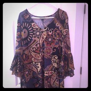 Colorful plus size dress